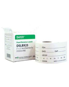 "NC-DSLBX23R LABEL SHELF LIFE DISSOLVE 250/ BoX 2""X3"""