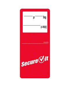 NC-P26SI-2 LABEL SECUREIT RED 2.5X6 36/ 250CT TAMPER EVIDENT