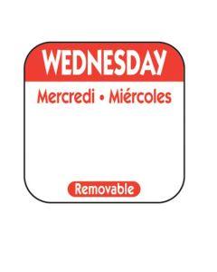 NC-R103R LABEL WEDNESDAY REMOV 1M/RL TRILINGUAL 1X1