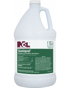 NCL-0125-29CT SANIQUAT DISINFECTANT SANITIZER DEODORIZER 1GAL, 4/CS