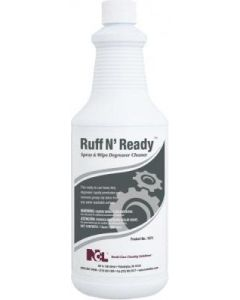 NCL-1071-36 RUFF N' READY SPRAY & WIPE CLNR 12/1QT/CS