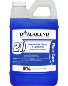 NCL-5091 DUAL BLEND #21 NEUTRAL FLOOR CLEANER & CONDITIONER 80OZ EA