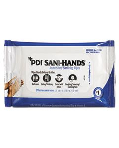 NICP71520 NICE-PAK PRODUCTS PDI SANI-HANDS INSTANT HAND WIPES, 8x5 1000/CS