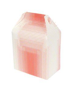 QP-3522 BOX PAPER TALL BARN STYLE WHT &RED 8X5X8 125/CS