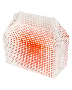 QP-3525 BOX PAPER MED BARN STYLE WHT &RED 9.5X5X5 125/CS