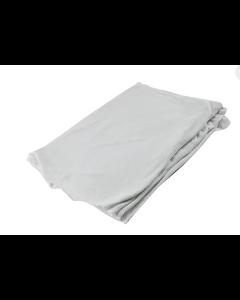RAG-90-50#CB RAG, WHITE WOVEN SHEET PIECES 50#/CS