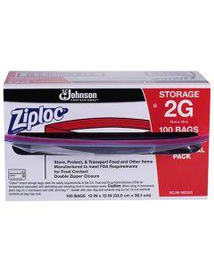 SCJ-682253 BAG POLY ZIPLOC STORAGE 2 GAL 13X15 100/CS