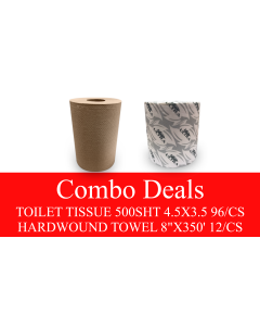 NP-TPHARDCOMBO TOILET PAPER AND HARDWOUND 350' COMBO DEAL