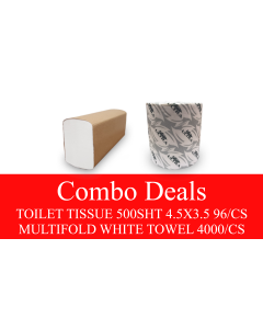 NP-TPMFCOMBO TOILET PAPER AND MULTIFOLD WHITE TOWEL COMBO DEAL